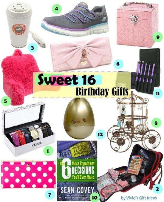 Best ideas about 16 Birthday Gift Ideas Girls . Save or Pin Gift Ideas for Girls Sweet 16 Birthday Vivid s Now.