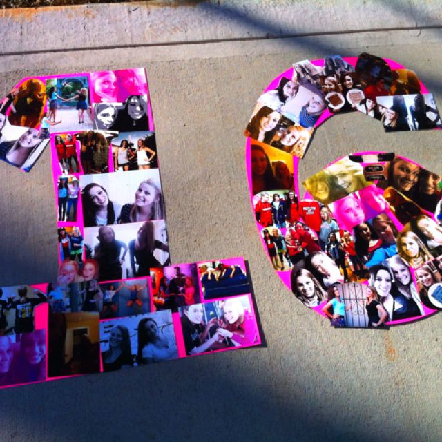 Best ideas about 16th Birthday Party Ideas Girl . Save or Pin we could make this with the pics th girls take then Now.