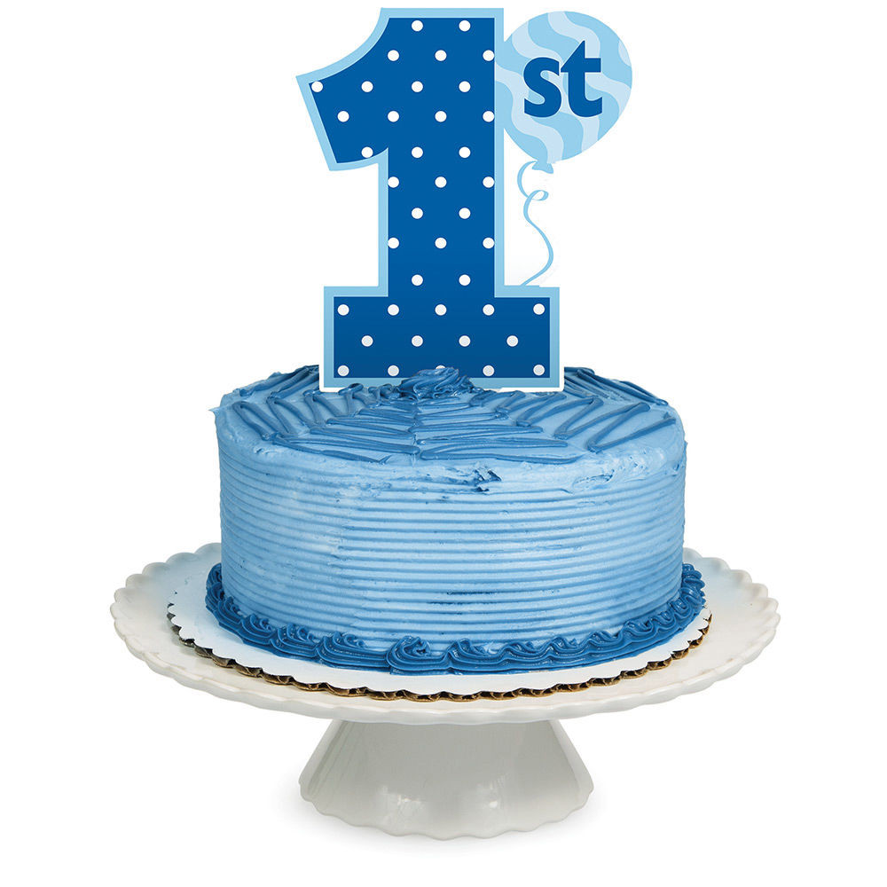 Best ideas about 1st Birthday Cake Topper . Save or Pin Cake Topper Age 1 1st Birthday Party Royal Blue Boy Cake Now.