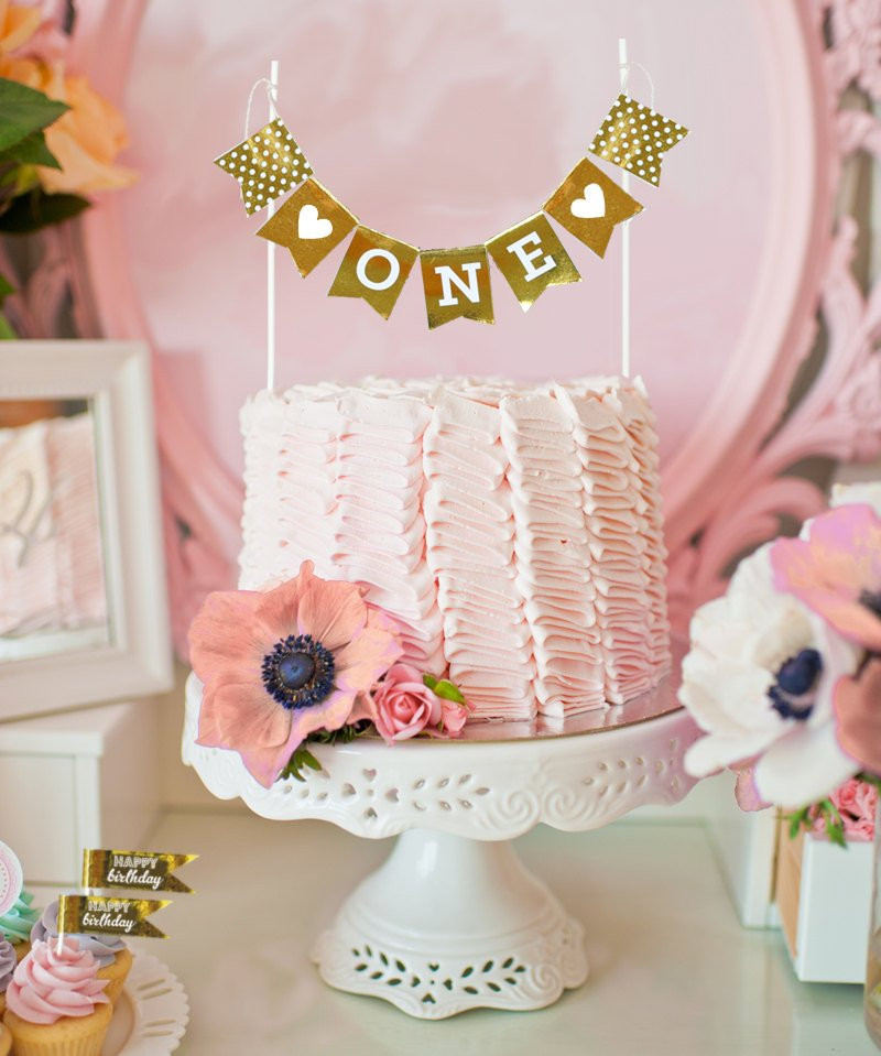 Best ideas about 1st Birthday Cake Topper . Save or Pin First Birthday Cake Topper 1st Birthday Cake Banner by Now.