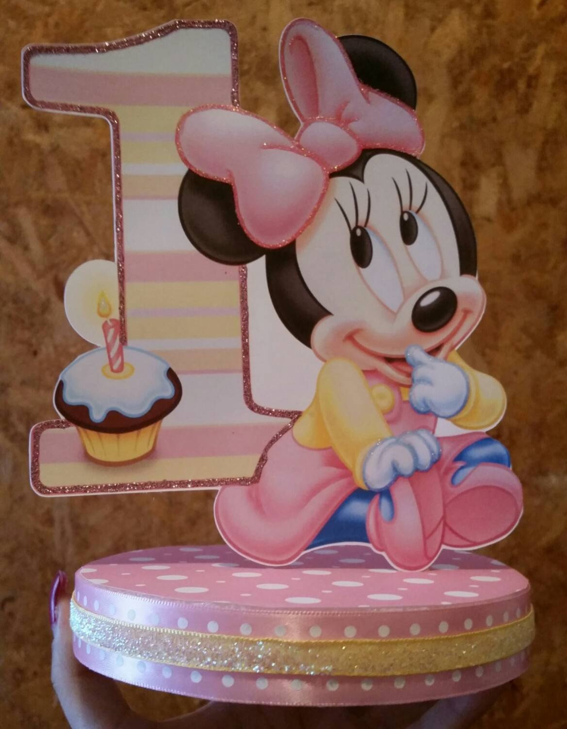 Best ideas about 1st Birthday Cake Topper . Save or Pin Minnie mouse 1st birthday cake topper Now.