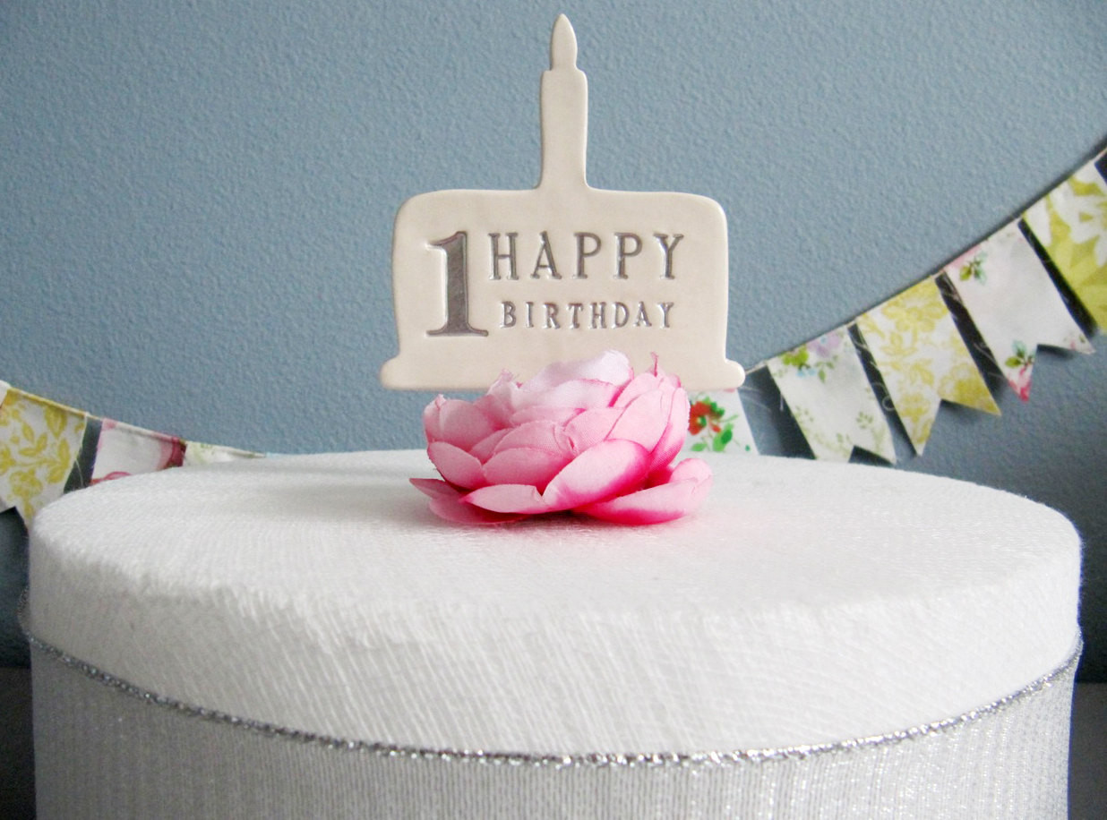 Best ideas about 1st Birthday Cake Topper . Save or Pin 1st Birthday Cake Topper in Silver Gold Blue Pink or Now.