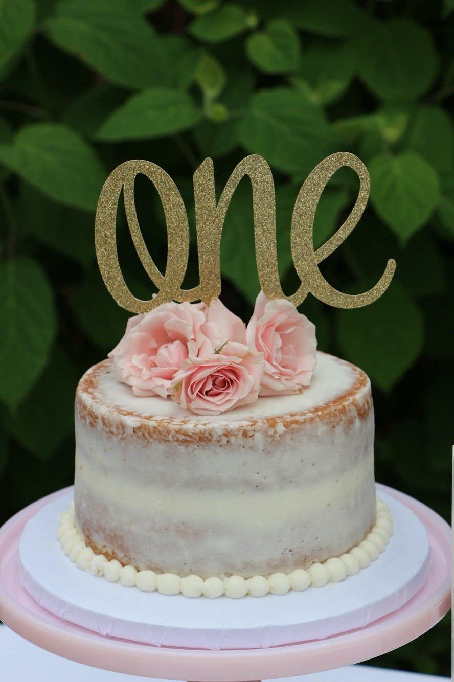 Best ideas about 1st Birthday Cake Topper . Save or Pin 1st Birthday Cake Topper ONE Cake Topper Gold Glitter ONE Now.
