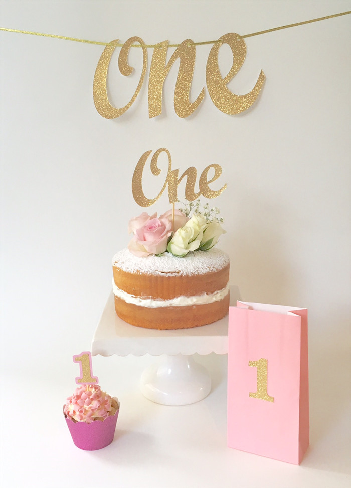 Best ideas about 1st Birthday Cake Topper . Save or Pin Gold Glitter e Cake Topper 1st Birthday Party Cake Now.