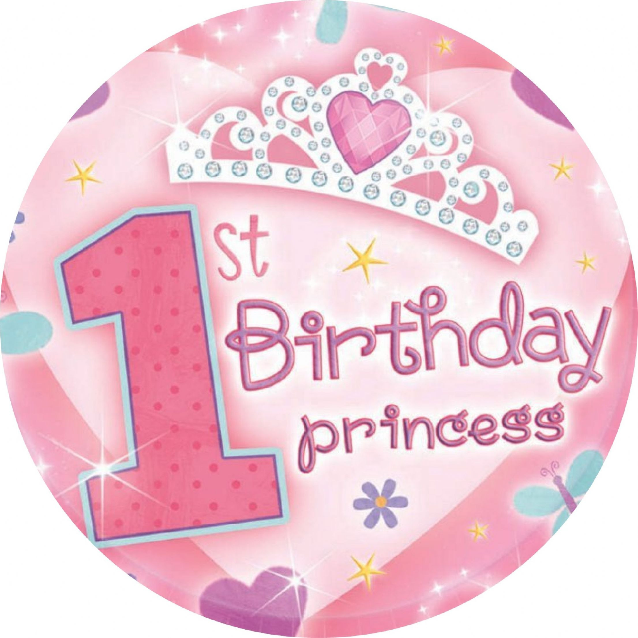 Best ideas about 1st Birthday Cake Topper . Save or Pin Girls 1st Birthday Edible Cake Topper Now.