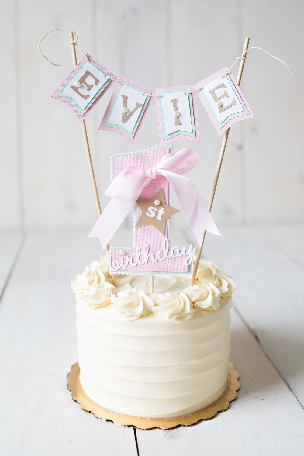 Best ideas about 1st Birthday Cake Topper . Save or Pin GIRL FIRST BIRTHDAY First Birthday Decorations 1st Now.