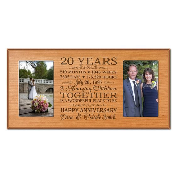 Best ideas about 20 Year Anniversary Gift Ideas . Save or Pin Personalized 20th anniversary t for him 20 year wedding Now.