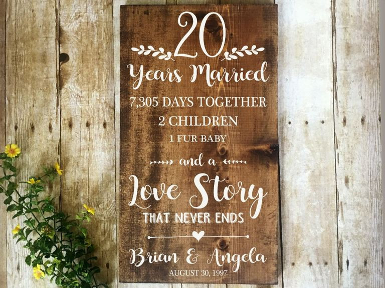 Best ideas about 20 Year Anniversary Gift Ideas . Save or Pin what is the 20 year anniversary t Now.