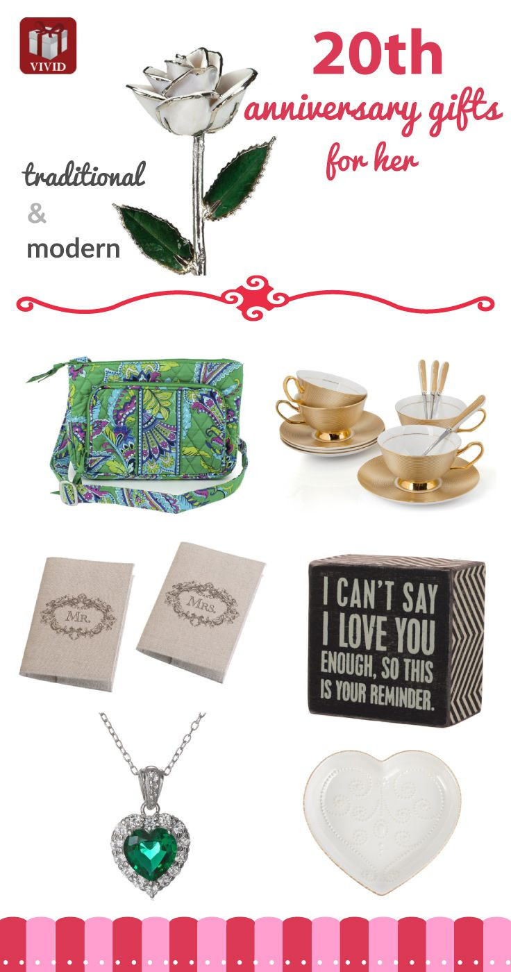 Best ideas about 20Th Wedding Anniversary Gift Ideas For Her . Save or Pin 153 best images about Anniversary Gift Ideas on Pinterest Now.