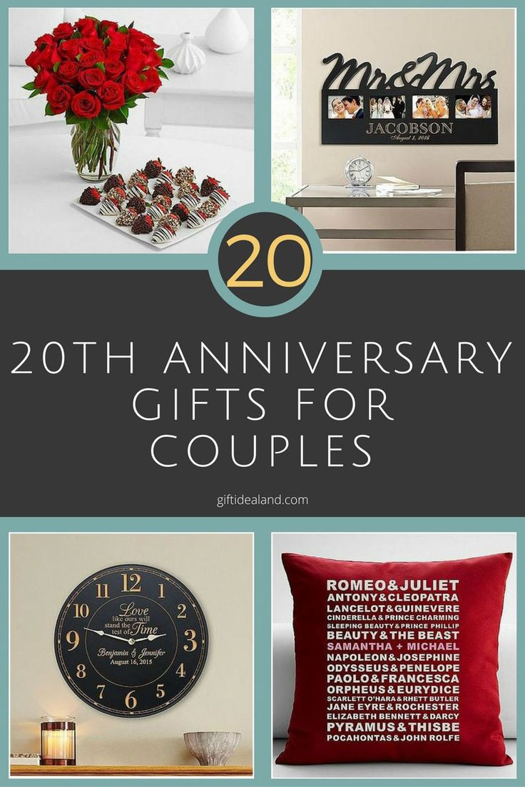 Best ideas about 20Th Wedding Anniversary Gift Ideas For Her . Save or Pin 1000 images about Anniversary Gifts on Pinterest Now.