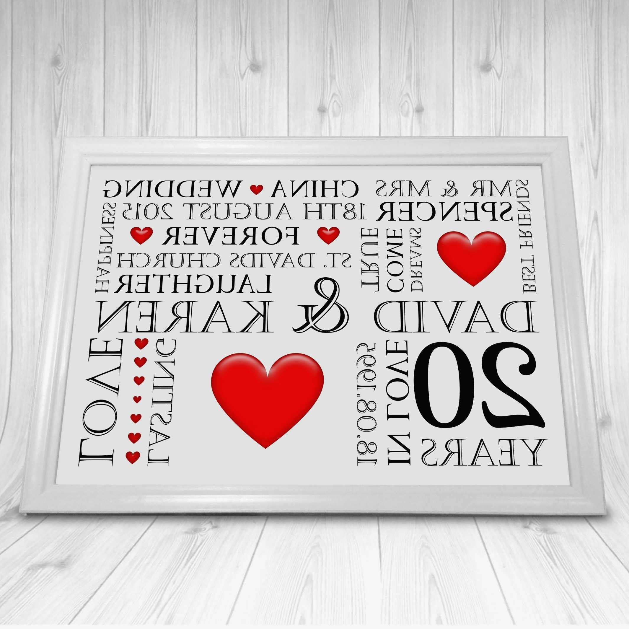 Best ideas about 20Th Wedding Anniversary Gift Ideas For Her . Save or Pin New 20th Wedding Anniversary Gift Ideas for Her Now.
