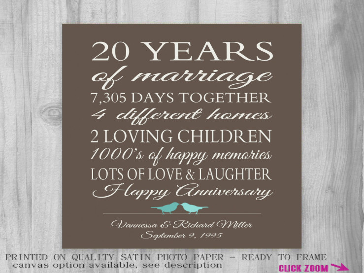 Best ideas about 20Th Wedding Anniversary Gift Ideas For Her . Save or Pin 20 Year Wedding Anniversary Gifts Wedding Ideas Now.
