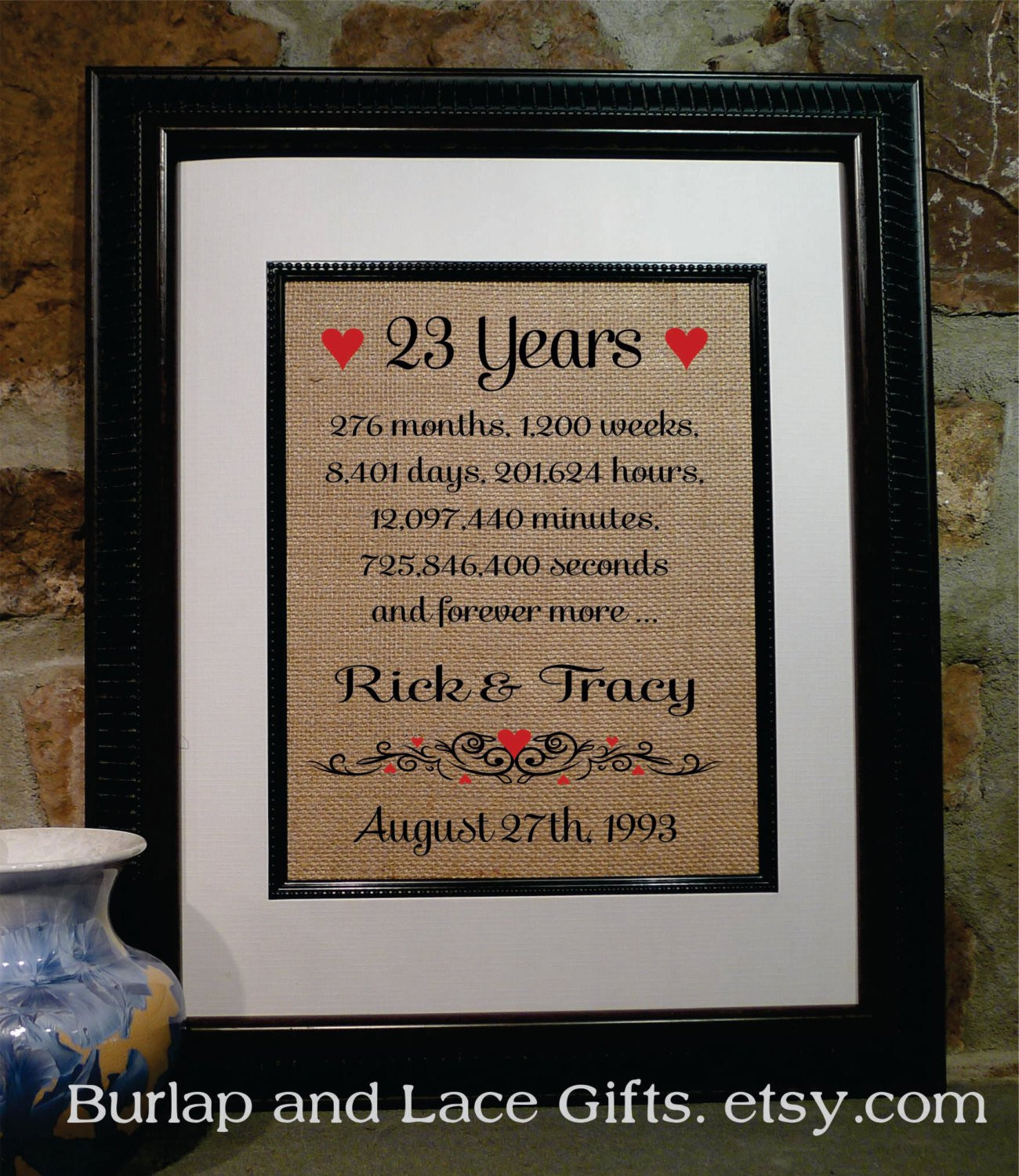 Best ideas about 23Rd Wedding Anniversary Gift Ideas Husband . Save or Pin 23rd Anniversary Gift For Wife – Gift Ftempo Now.