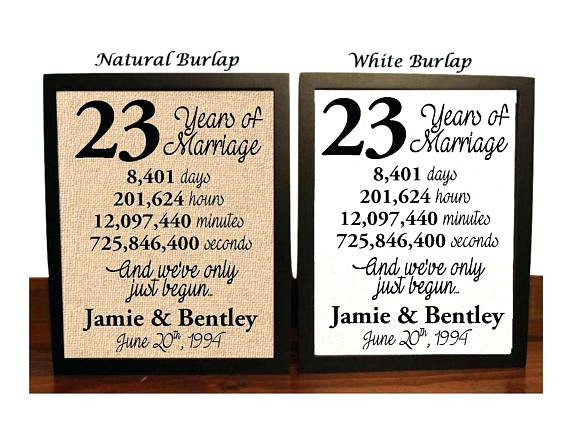 Best ideas about 23Rd Wedding Anniversary Gift Ideas Husband . Save or Pin What Is The e Year Wedding Anniversary Gift Beautiful Now.