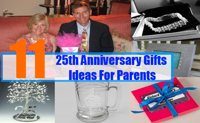 Best ideas about 25Th Anniversary Gift Ideas For Parents . Save or Pin 25th Anniversary Gifts Ideas For Parents Now.