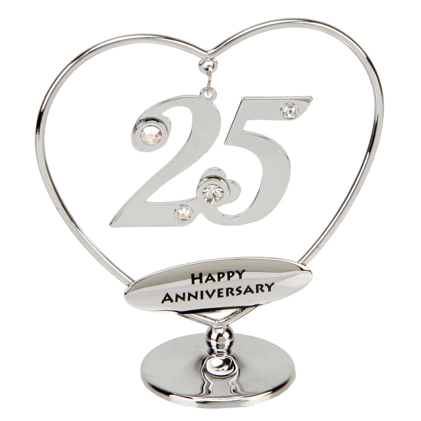 Best ideas about 25Th Anniversary Gift Ideas For Parents . Save or Pin 25th Anniversary Cake Topper Now.