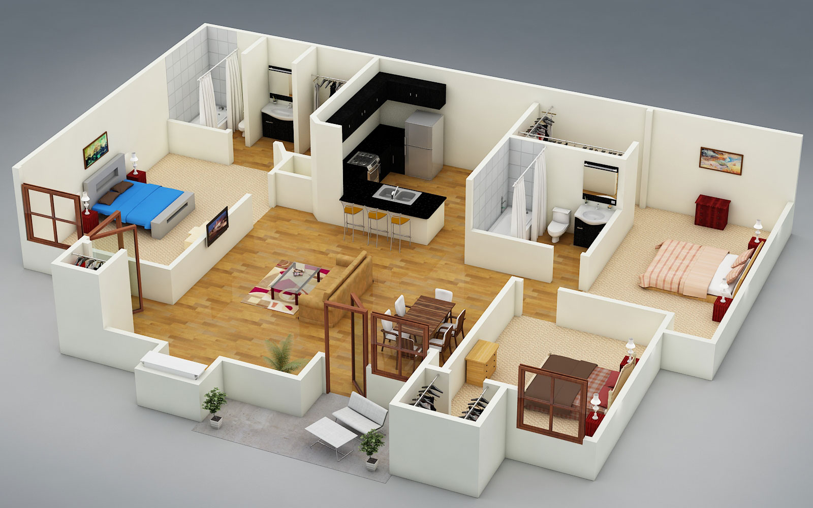 Best ideas about 3 Bedroom House . Save or Pin 3 bedroom houses for rent private landlord House For Now.