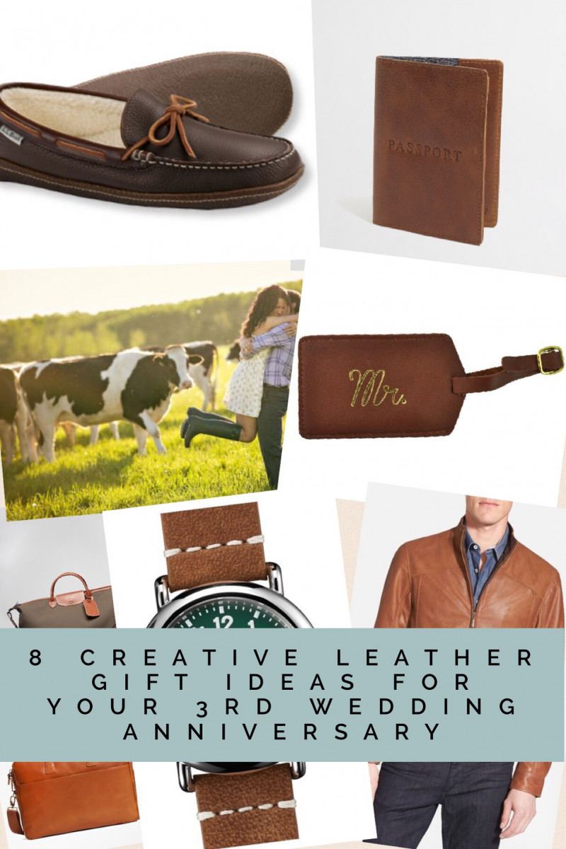 Best ideas about 3 Year Anniversary Gift Ideas For Him . Save or Pin 8 Creative Leather Gift Ideas for your 3rd Wedding Now.