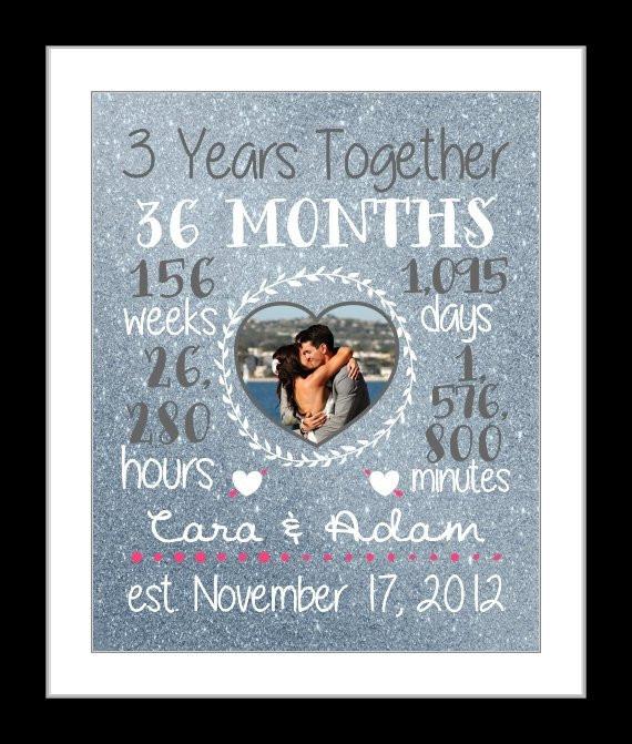 Best ideas about 3 Year Anniversary Gift Ideas For Him . Save or Pin Any 3 Year Anniversary Gift 3 Year Wedding Anniversary Now.