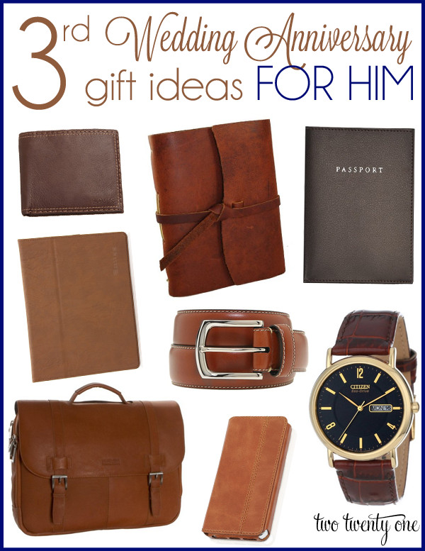 Best ideas about 3 Year Anniversary Gift Ideas For Him . Save or Pin Third Anniversary Gift Ideas Now.