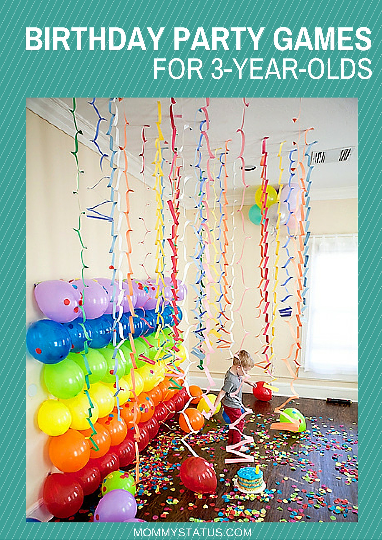 Best ideas about 3 Year Old Birthday Party Ideas . Save or Pin BIRTHDAY PARTY GAMES FOR 3 YEAR OLDS Mommy Status Now.