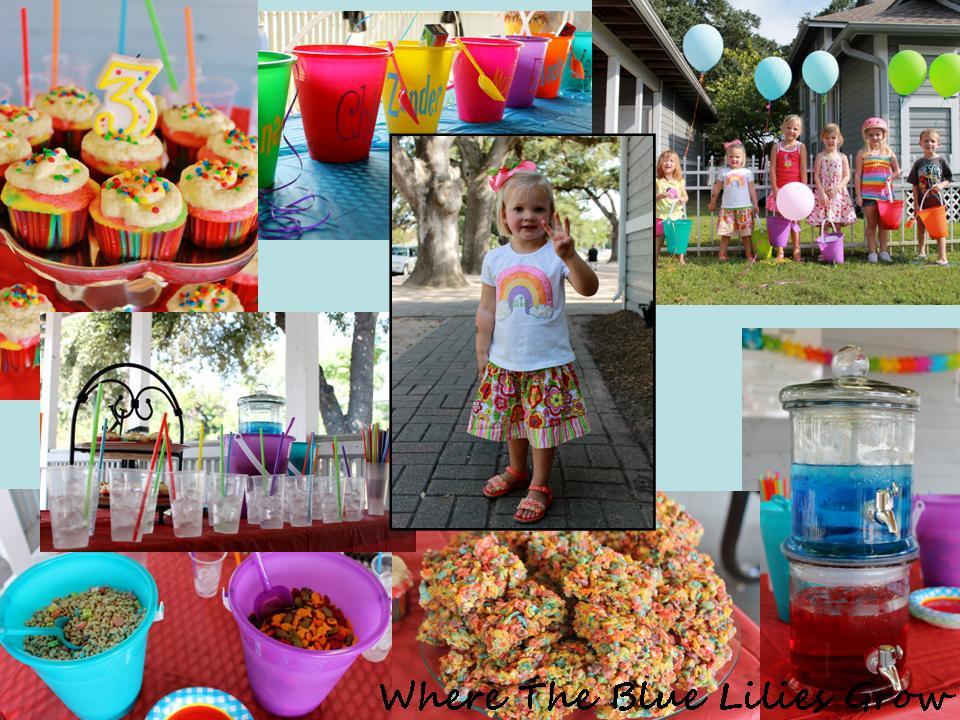 Best ideas about 3 Year Old Birthday Party Ideas . Save or Pin Where The Blue Lilies Grow Rainbow Birthday Party for a Now.