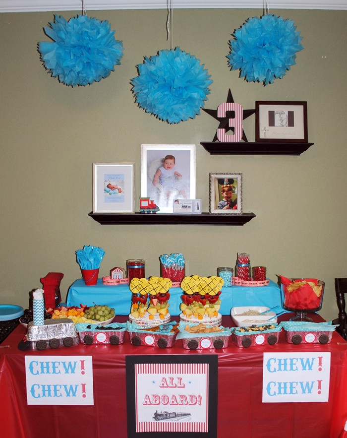 Best ideas about 3 Year Old Birthday Party Ideas . Save or Pin Railroad Train Themed Birthday Party for 3 year old boy Now.