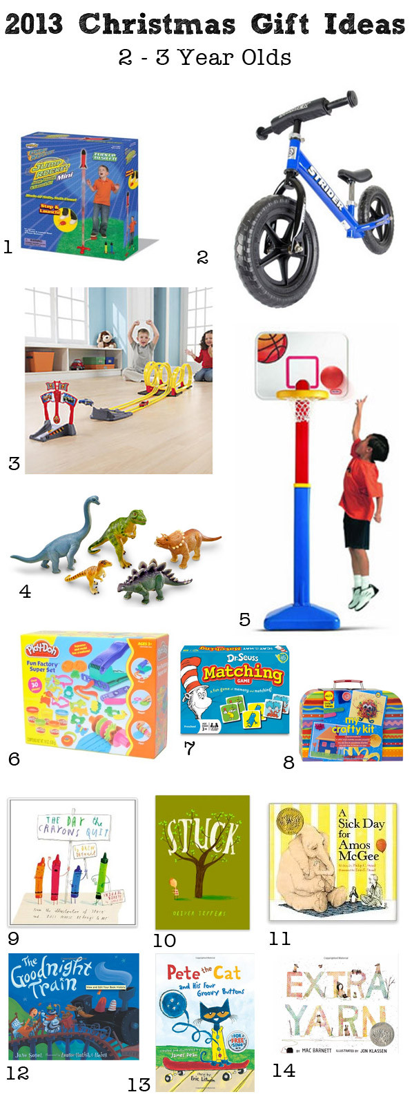 Best ideas about 3 Year Old Christmas Gift Ideas . Save or Pin Christmas Gifts Ideas 2 3 Year Olds Now.