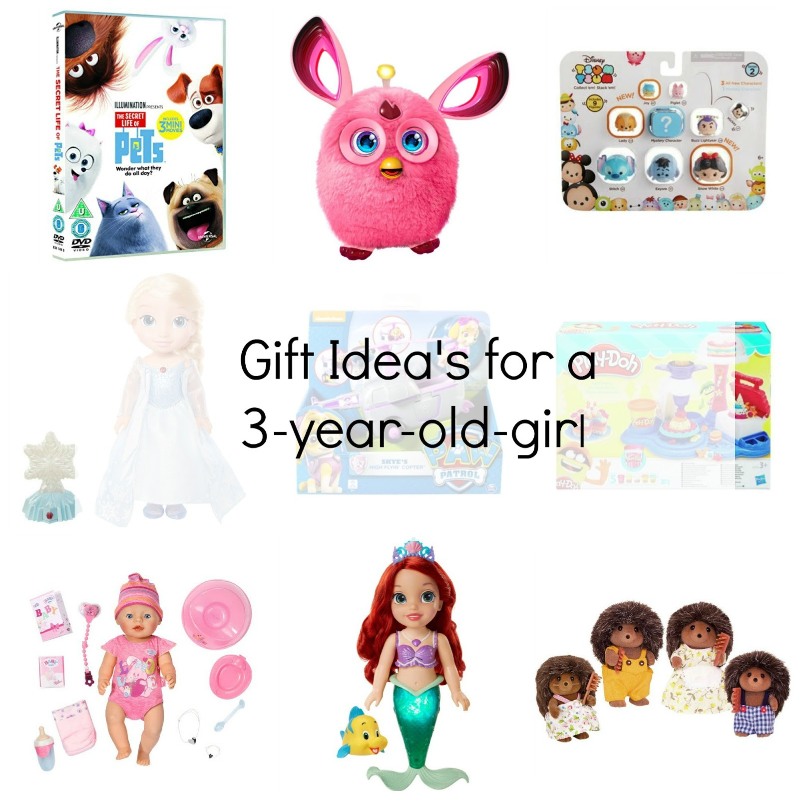 Best ideas about 3 Year Old Christmas Gift Ideas . Save or Pin Christmas Gift Ideas For A Three Year Old Girl Now.