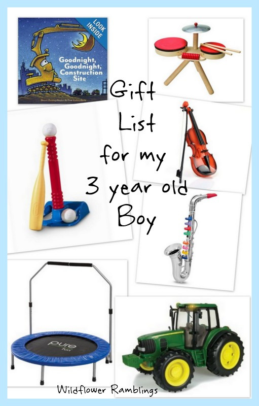 Best ideas about 3 Year Old Christmas Gift Ideas . Save or Pin t ideas for my 3 year old boy Wildflower Ramblings Now.