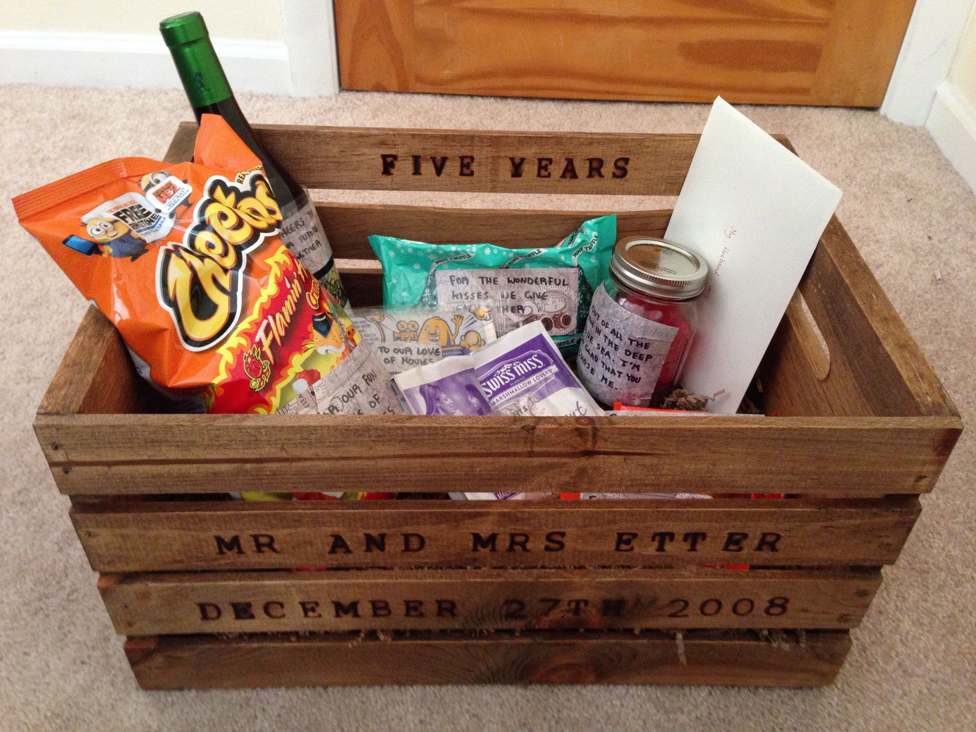 Best ideas about 3 Year Wedding Anniversary Gift Ideas For Him . Save or Pin Gift For 5 Year Anniversary creative Pinterest Now.