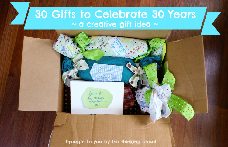 Best ideas about 30Th Birthday Gift Ideas For Boyfriend . Save or Pin 30 Gifts to Celebrate 30 Years the thinking closet Now.