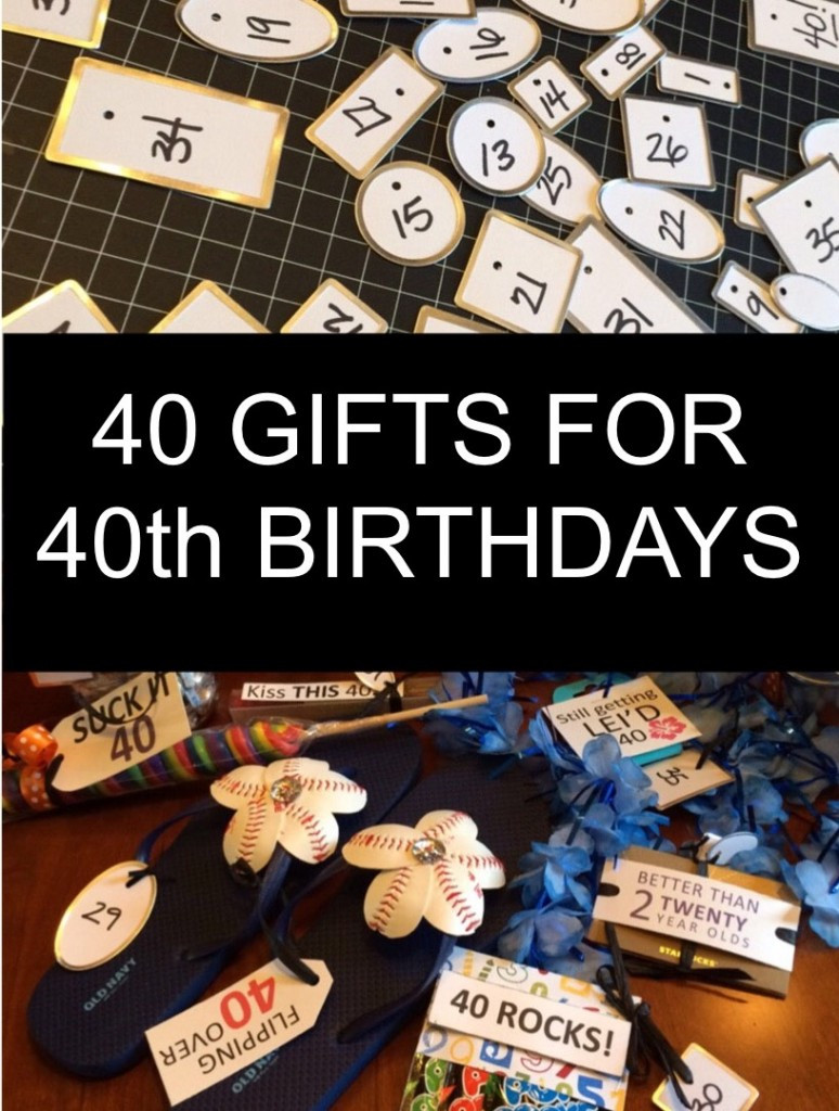 Best ideas about 40Th Birthday Gift Ideas For Men . Save or Pin 40 Gifts for 40th Birthdays Little Blue Egg Now.