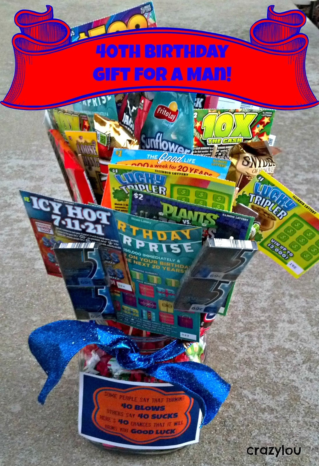 Best ideas about 40Th Birthday Gift Ideas For Men . Save or Pin crazylou 40th Birthday Gifts for Men Now.