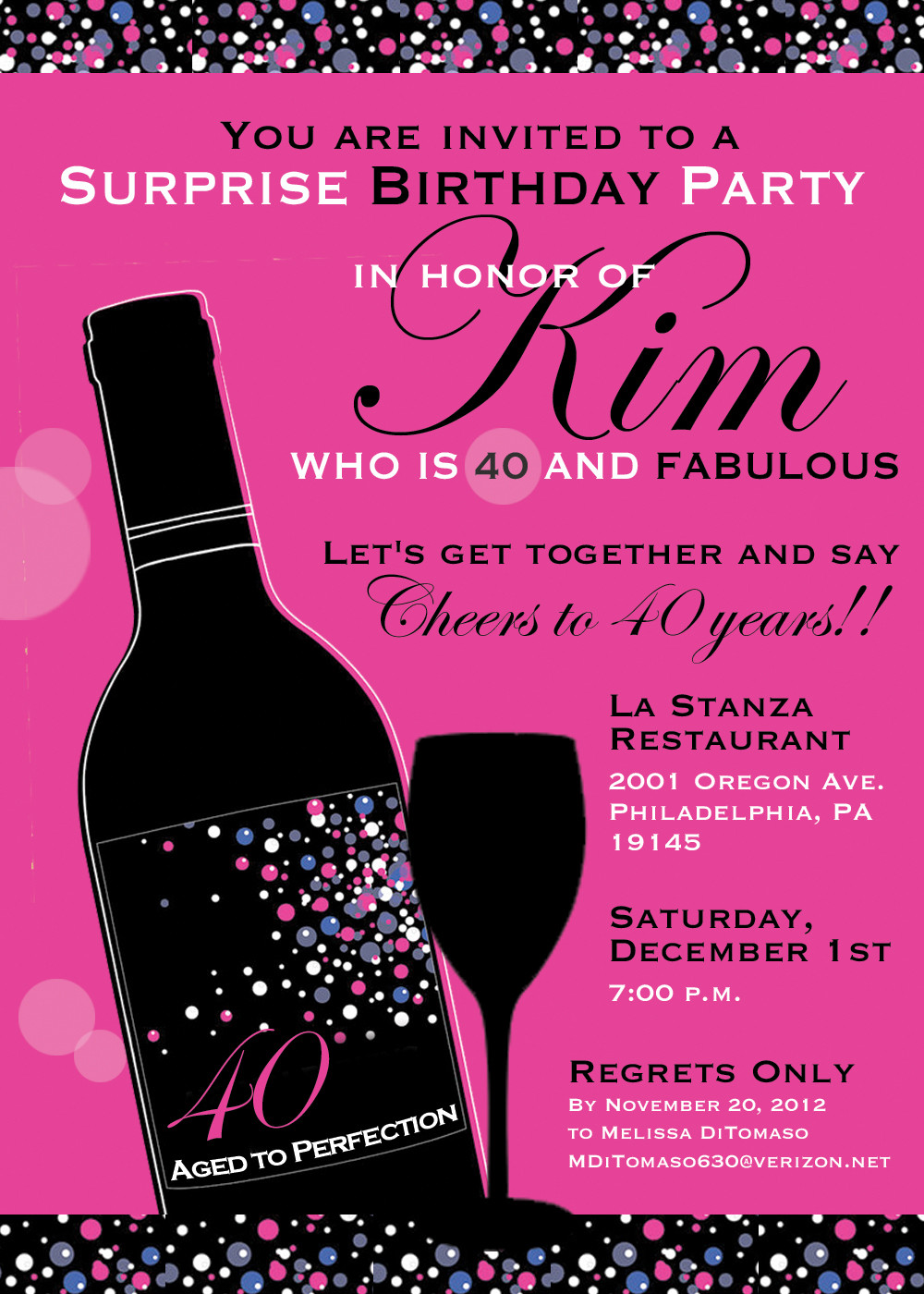 Best ideas about 40th Birthday Invitations . Save or Pin 8 40th birthday Invitations Ideas and Themes – Sample Now.