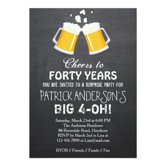 Best ideas about 40th Birthday Invitations . Save or Pin FREE 40th Birthday Invitation Wording – Bagvania FREE Now.