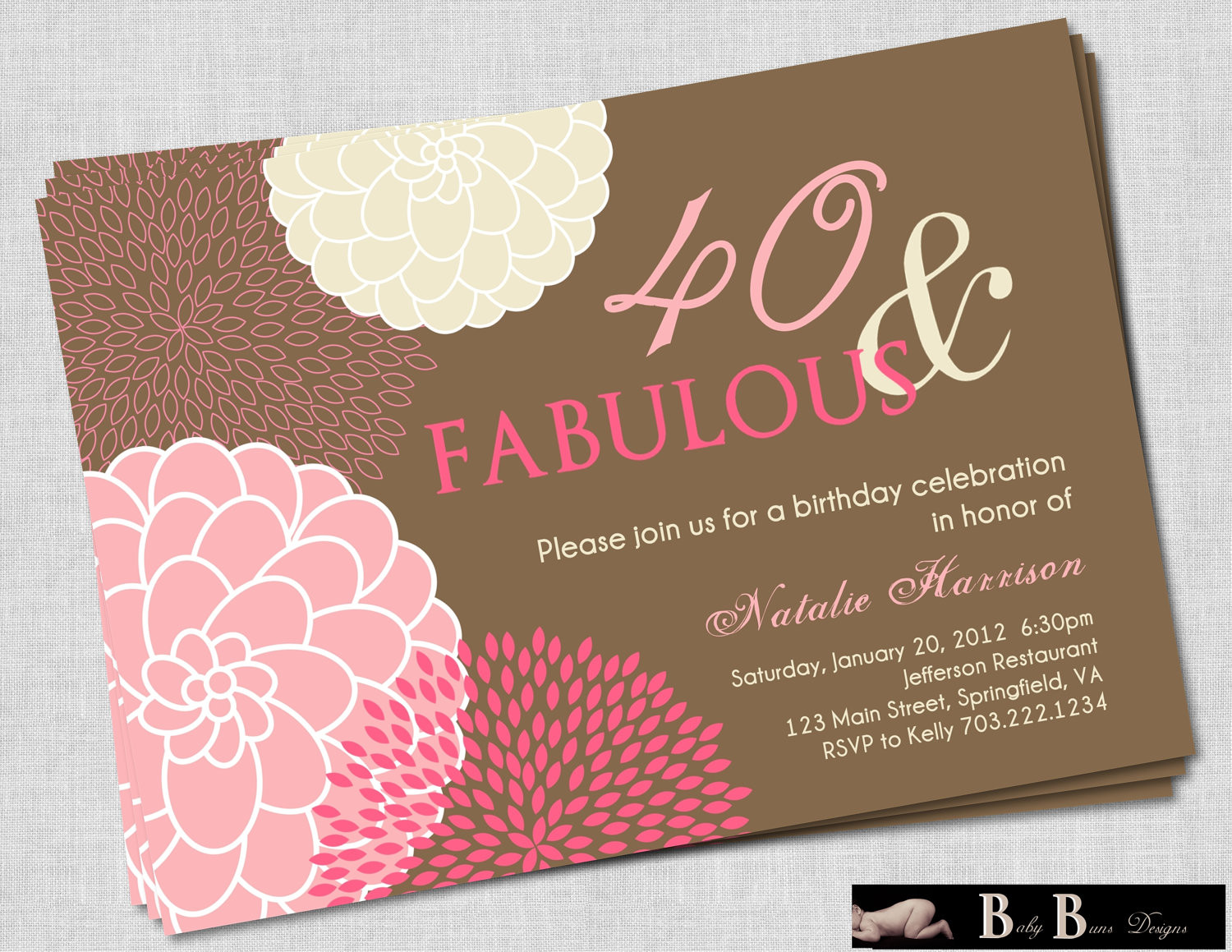 Best ideas about 40th Birthday Invitations . Save or Pin FREE Printable 40th Birthday Invitations for Women Now.