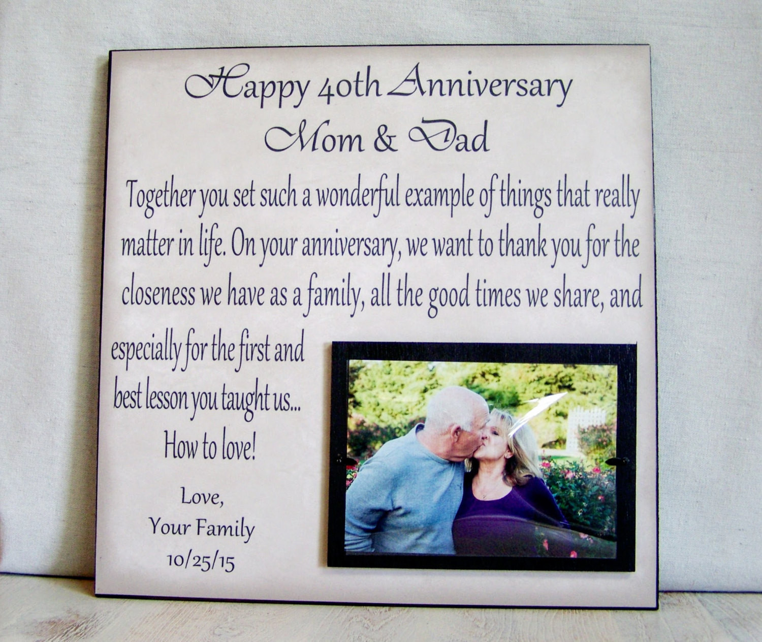 Best ideas about 40Th Wedding Anniversary Gift Ideas For Parents . Save or Pin Anniversary Picture Frame Gift 40th Anniversary 30th Now.