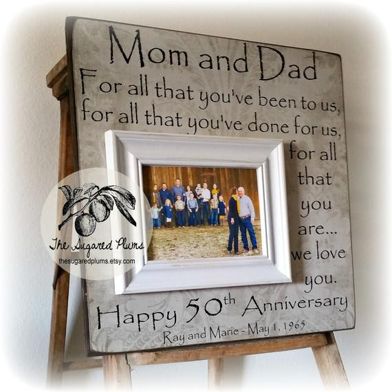 Best ideas about 50Th Anniversary Gift Ideas For Parents . Save or Pin 50th Anniversary Gifts Parents Anniversary Gift For All That Now.