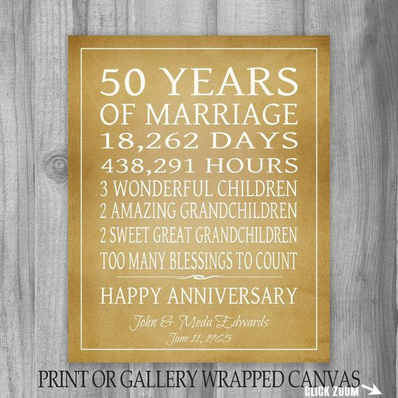Best ideas about 50Th Anniversary Gift Ideas For Parents . Save or Pin Golden Anniversary Gift Grandparents 50th Anniversary Gift Now.