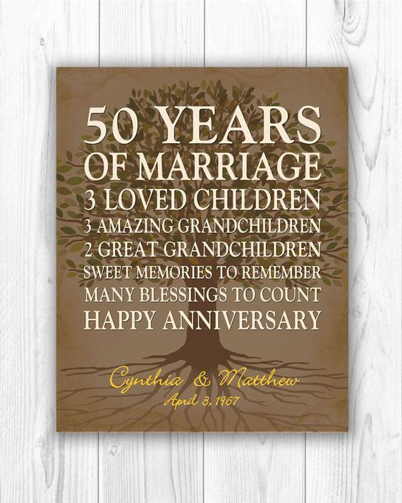 Best ideas about 50Th Anniversary Gift Ideas For Parents . Save or Pin 50th anniversary t for parents anniversary t golden Now.