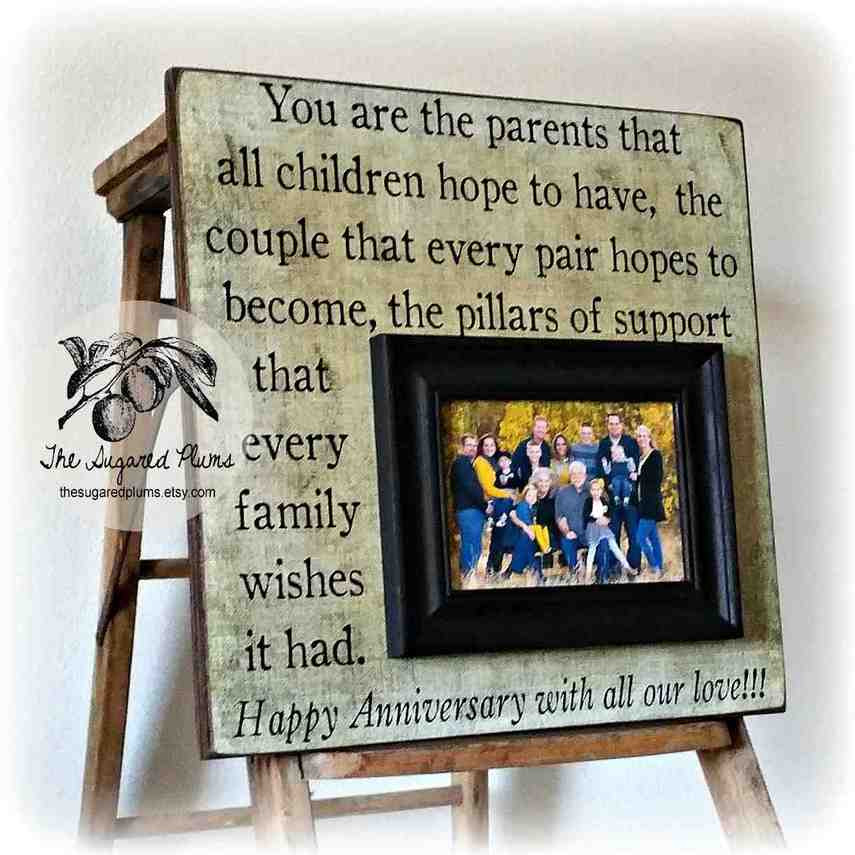 Best ideas about 50Th Anniversary Gift Ideas For Parents . Save or Pin Traditional 50th Wedding Anniversary Gifts For Parents Now.