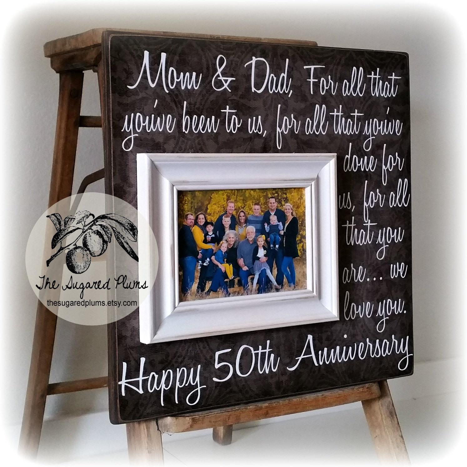 Best ideas about 50Th Anniversary Gift Ideas For Parents . Save or Pin Parents Anniversary Gift 50th Anniversary Gifts by Now.