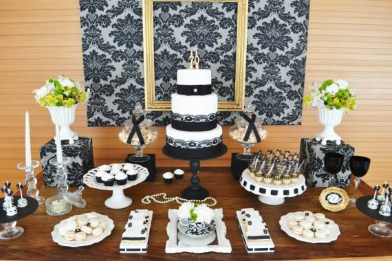 Best ideas about 70th Birthday Party Decorations . Save or Pin Gold & Black Damask 70th Birthday Party Birthday Party Now.