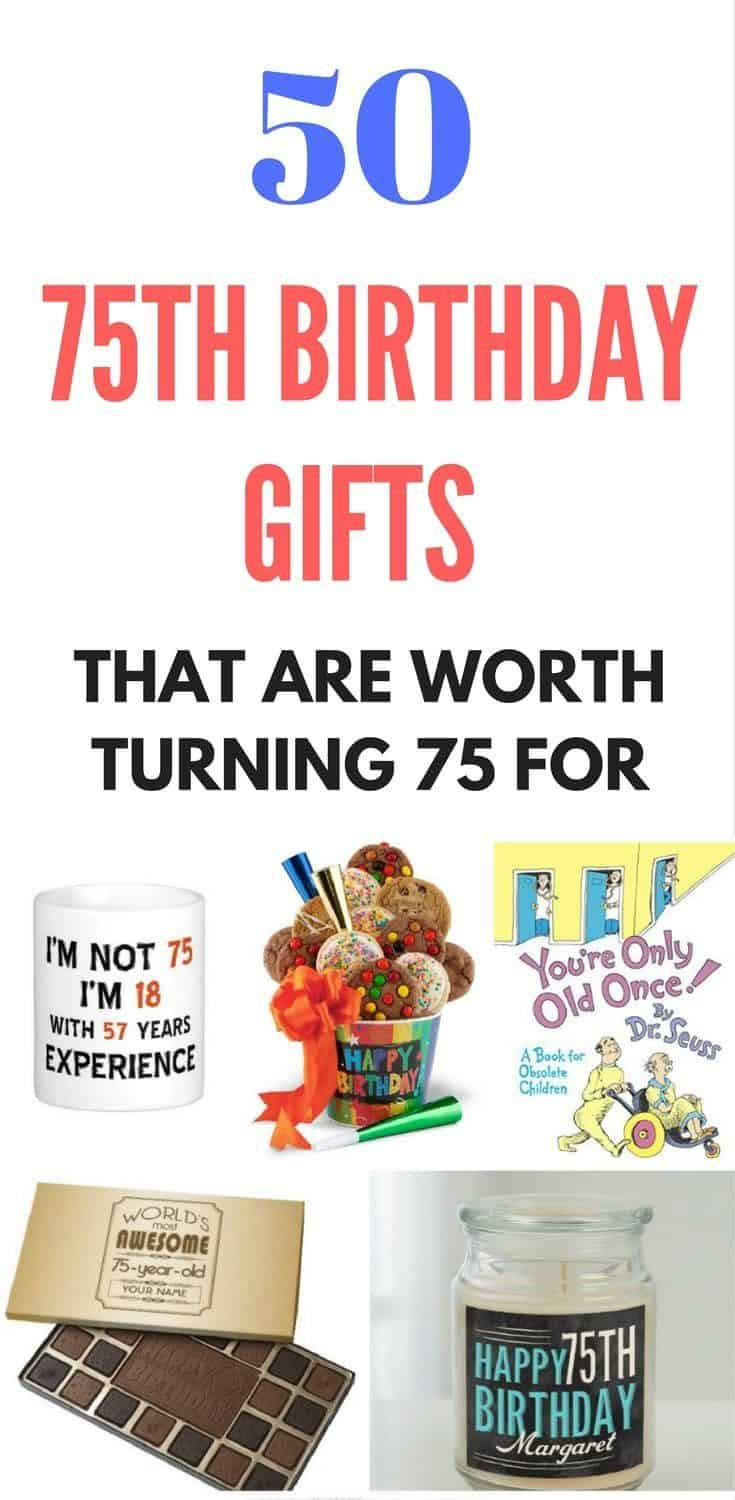 Best ideas about 75Th Birthday Gift Ideas . Save or Pin Top 75th Birthday Gifts 50 Sure to Please Gift Ideas Now.
