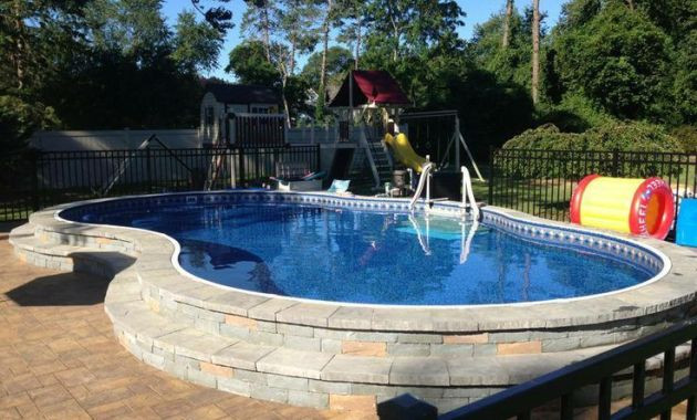 Best ideas about Above Ground Pool Installation Cost . Save or Pin How Much Does a Semi Inground Pool Cost Now.