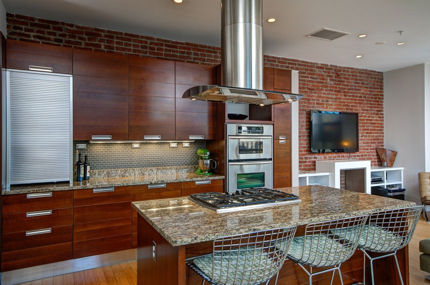 Best ideas about Accent Wall In Kitchen . Save or Pin 47 Brick Kitchen Design Ideas Tile Backsplash & Accent Now.