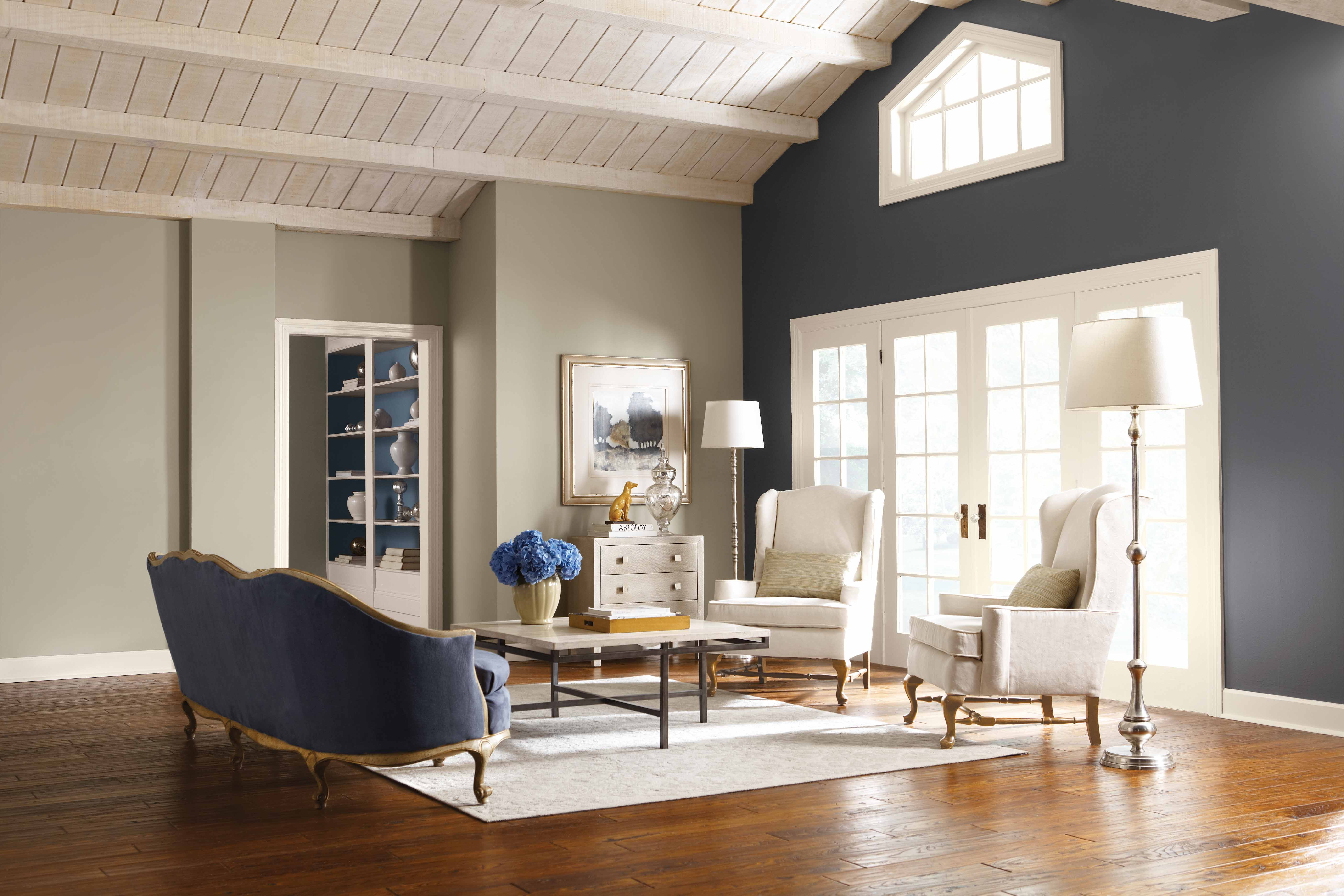 Best ideas about Accent Walls Color Combinations . Save or Pin Silver Paint Colors Affordable Furniture Home fice Now.