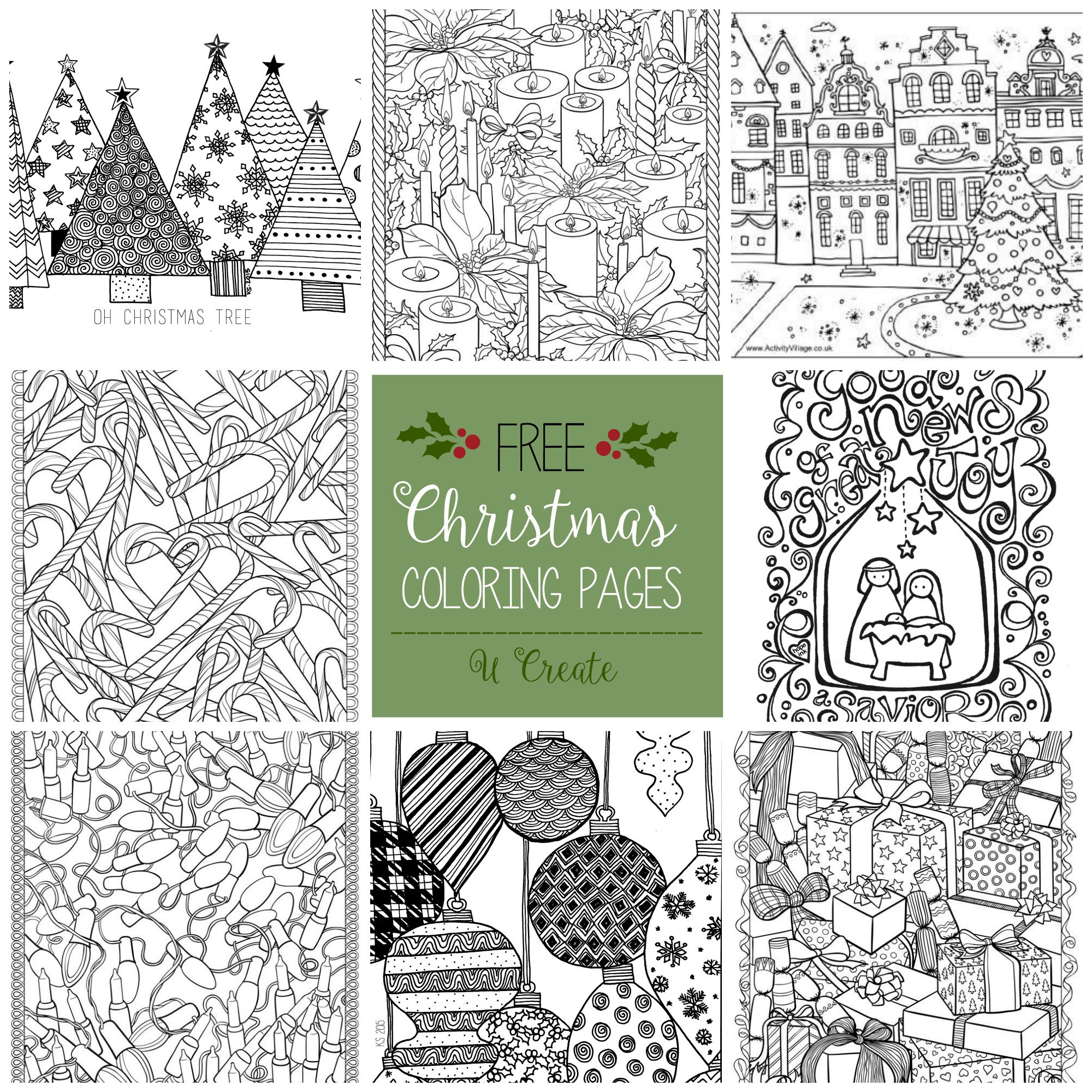 Best ideas about Adult Christmas Coloring Books . Save or Pin Merry Christmas Coloring Banner U Create Now.