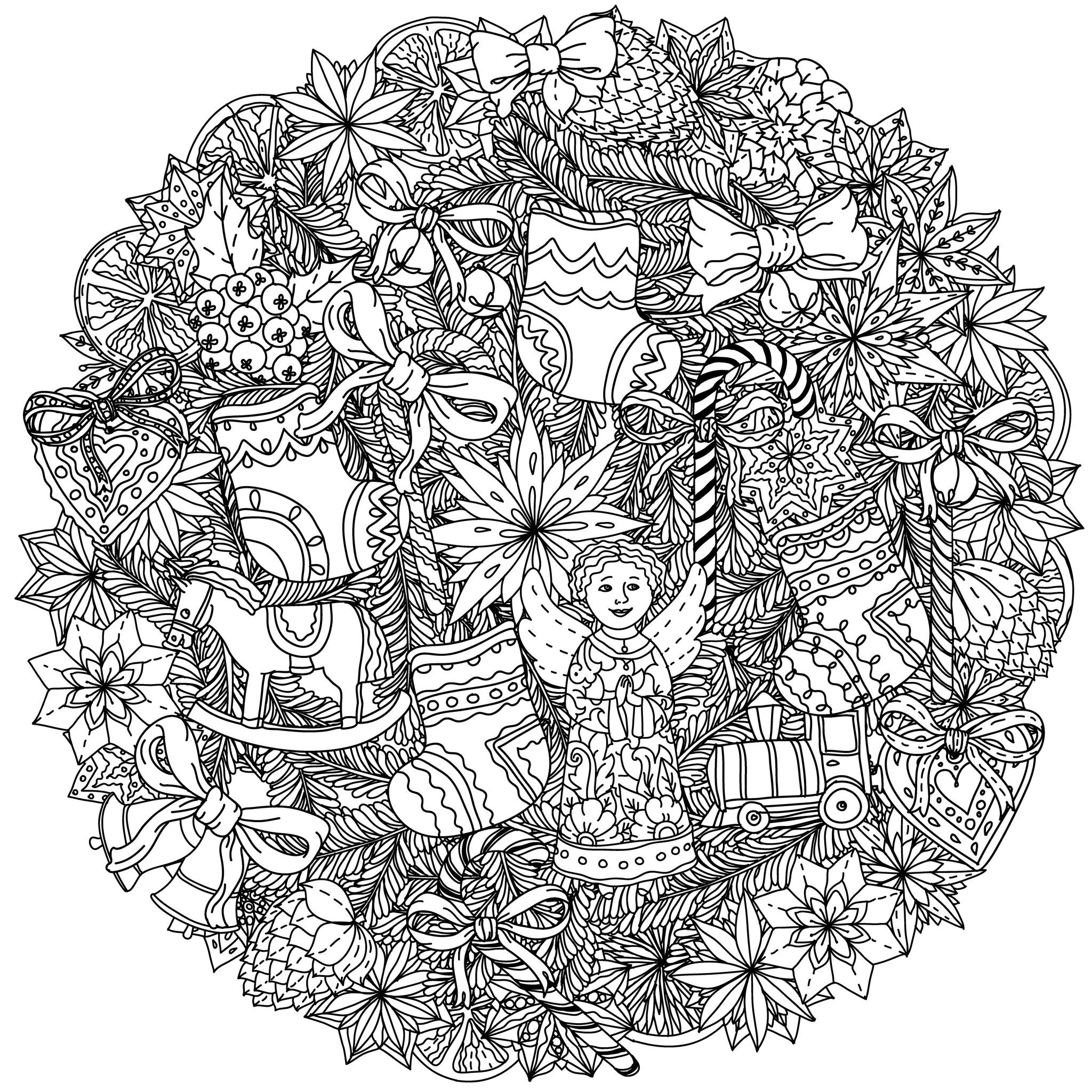 Best ideas about Adult Christmas Coloring Books . Save or Pin Christmas mandala Christmas Adult Coloring Pages Now.